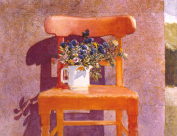"""The Irish Chair, Orange"" oil on linen 48"" x 60"" Private Collection"