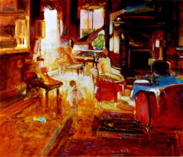 """The Music Room"" oil on linen 50"" x 60"", Private Collection"